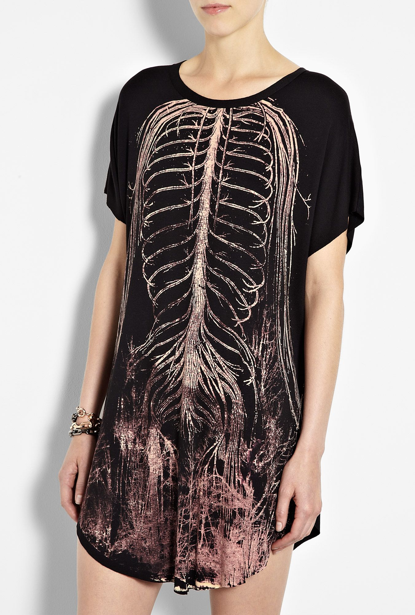 Black Bones Easy T-Shirt Dress by Draw In Light because I like ...