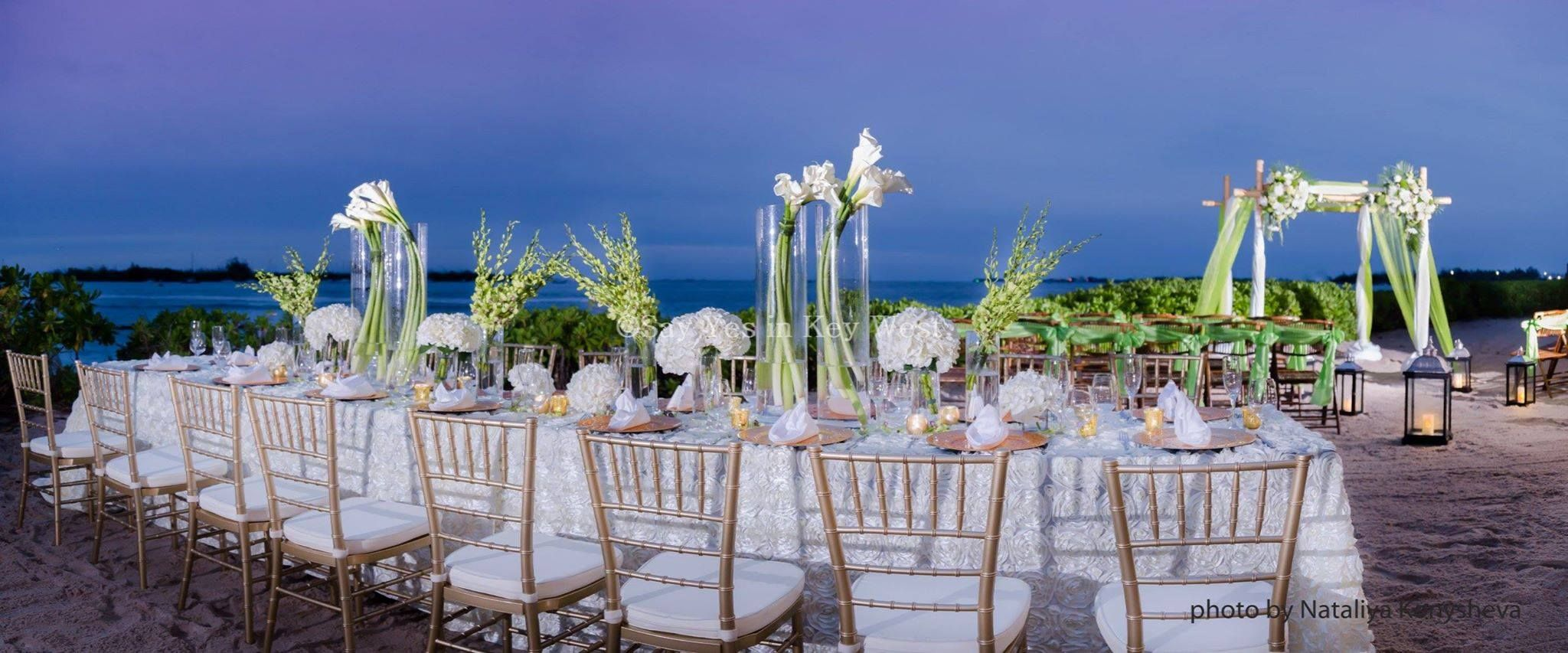 Wedding Ceremony And Reception On The Beach Terrace In Key West