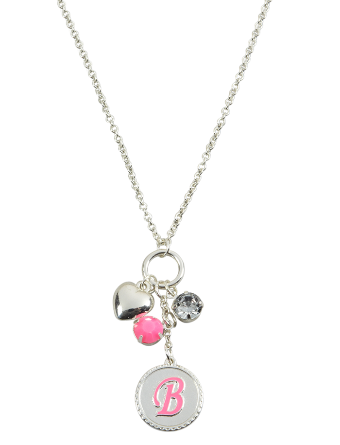 Silver Initial Charm Necklace | Necklaces | Jewelry | Shop Justice