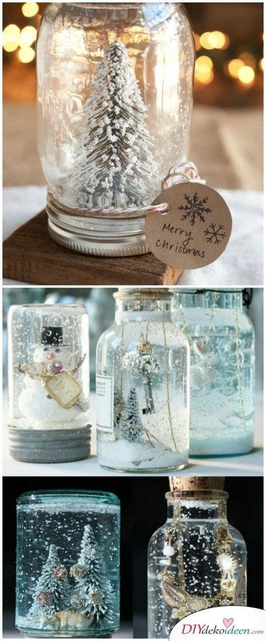 25 Geniale BASTELIDEEN für DIY GESCHENKE zu WEIHNACHTEN #weihnachtsdekoglas