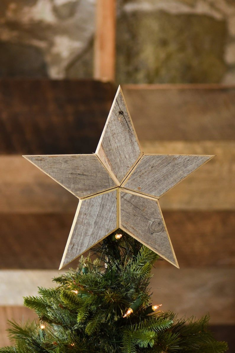Silver Star Christmas Tree Topper Decoration 10 Inch Star Image 1 Christmas Tree Toppers Christmas Tree Topper Decorations Star Tree Topper
