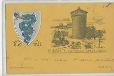 1900 Milano - castello sforzesco - ed. stoppani - gruss liberty viaggiata