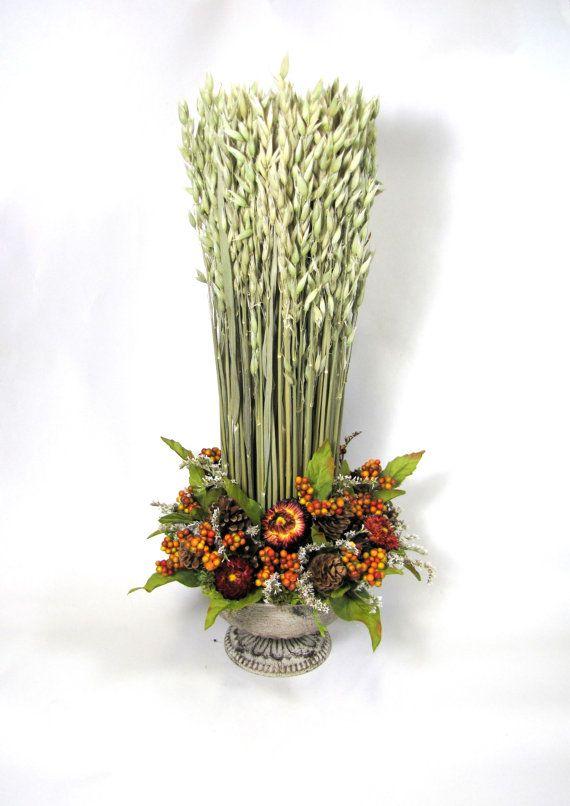 Fall Arrangement, Dried Floral Arrangement, Harvest Decor, Fall decor, Dried  Flowers, Contemporary Arrangement