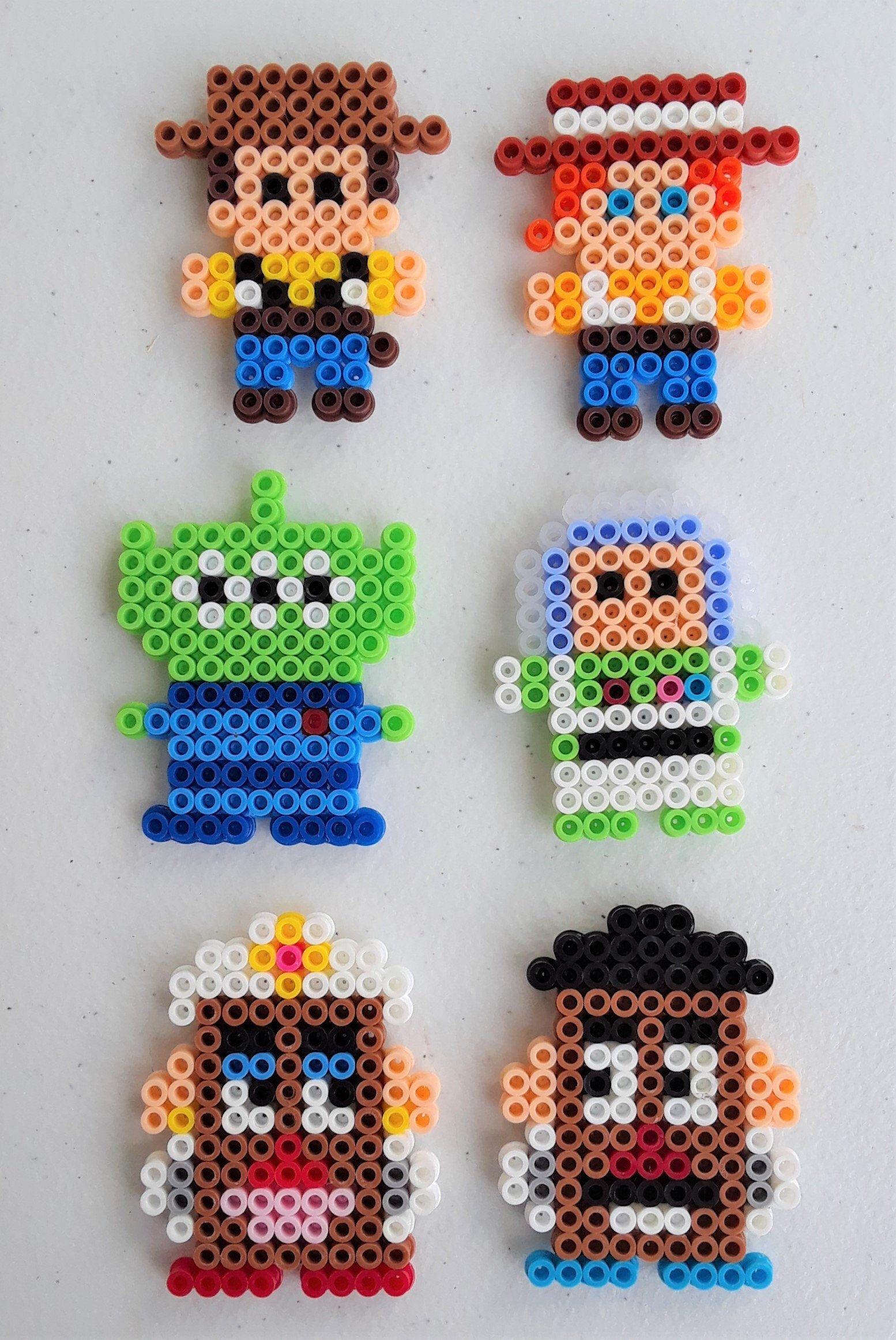 Disney Pixar S Toy Story Character Perler Bead Magnets Perler Bead Disney Hama Beads Patterns Easy Perler Bead Patterns
