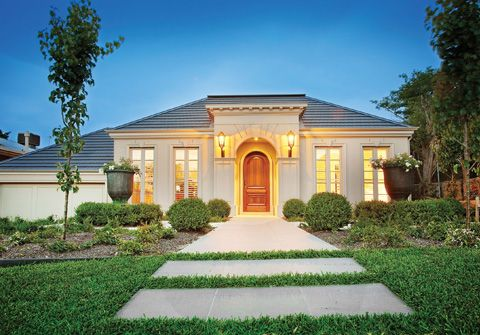 French provincial style single story rumah baru in 2018 for Regency house plans