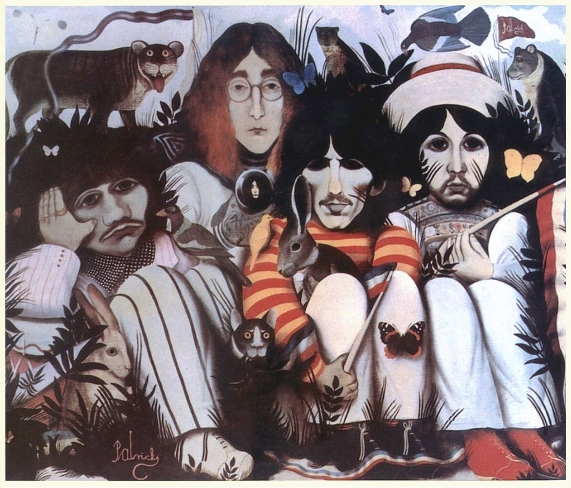 "Cover by John Patrick Byrne for The Beatles' ""White Album"