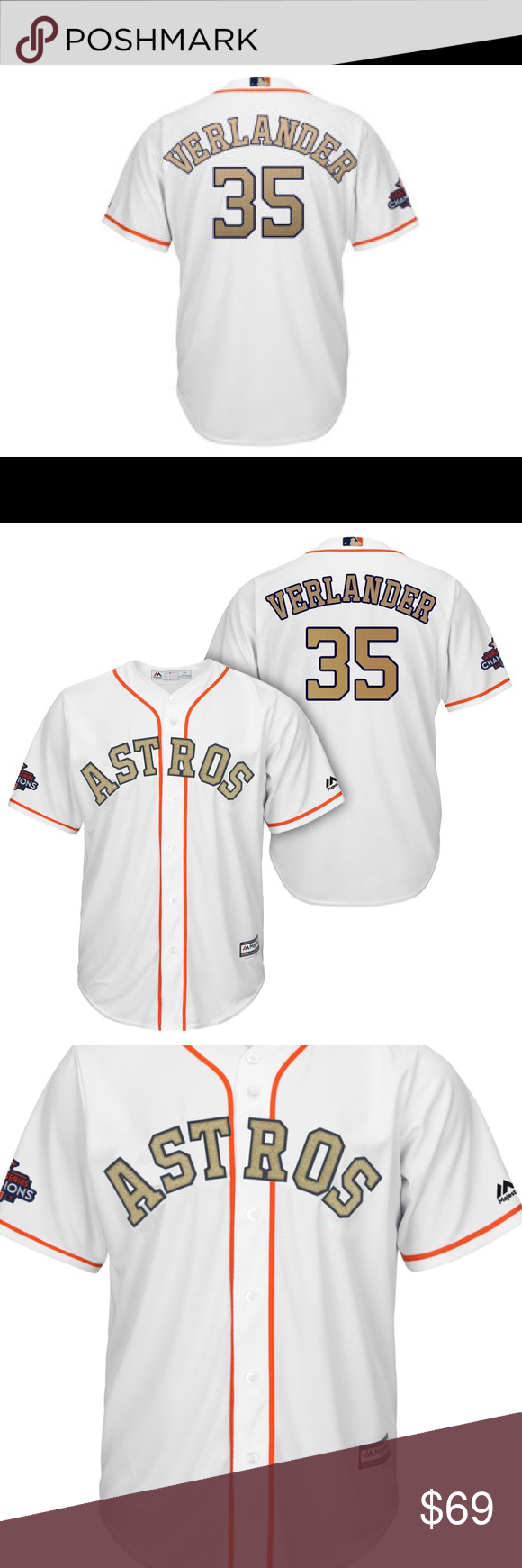 finest selection a183d 3eccc COMING SOON* Verlander Astros Gold Jerseys! COMING SOON to ...
