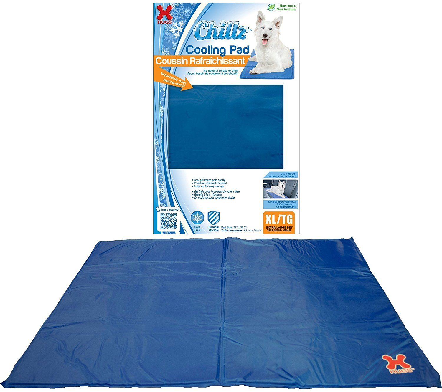 Hugs Pet Products Chillz Pad Comfort Cooling Gel Pet Pad Don T Get Left Behind See This Great Dog Product Dog Be Pet Pads Pet Cooling Pad Dog Cooling Mat