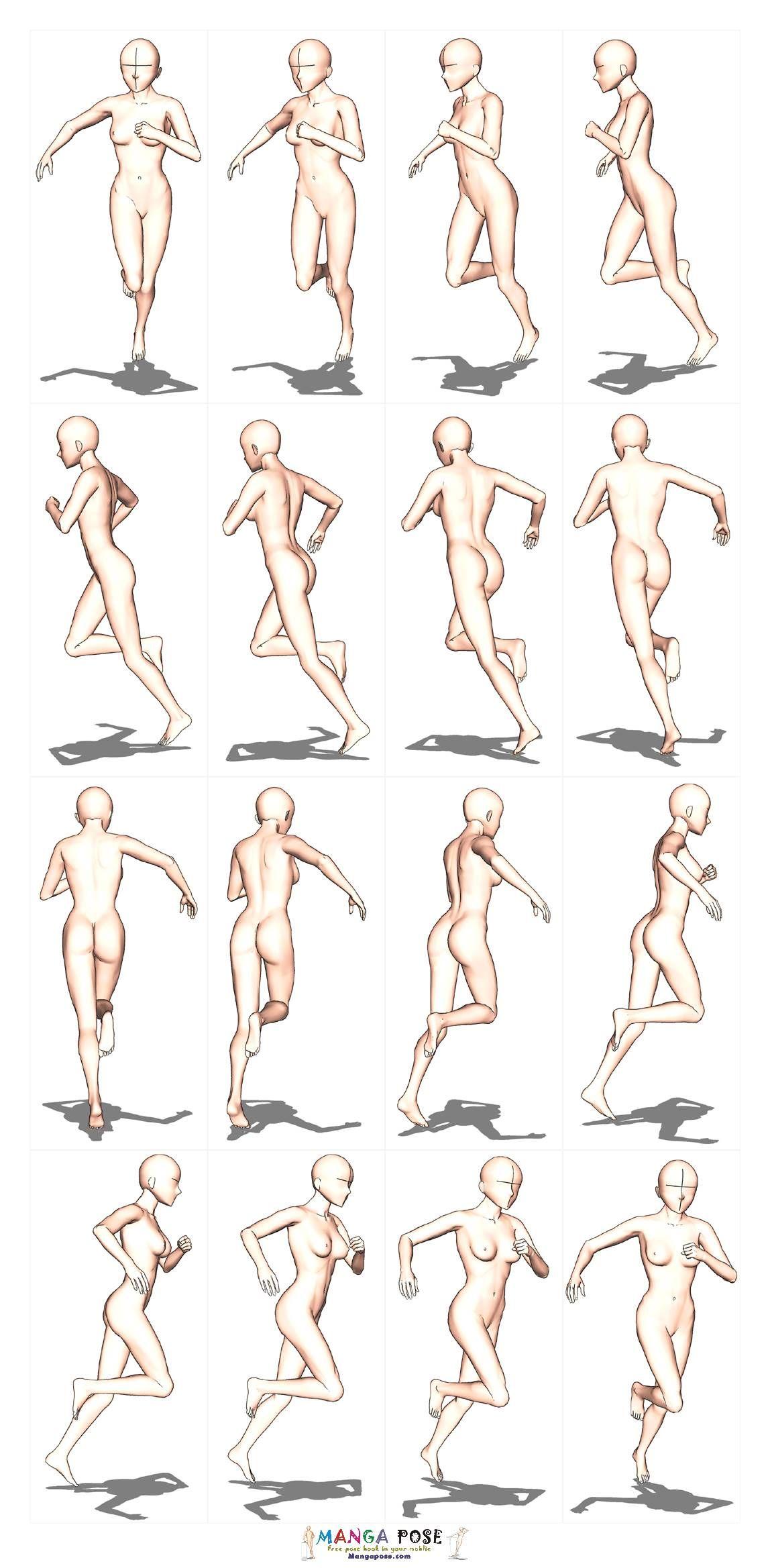 Mangapose Com Deta 20base 11 Contents 03b Jpg Running Pose Figure Drawing Poses Pose Reference