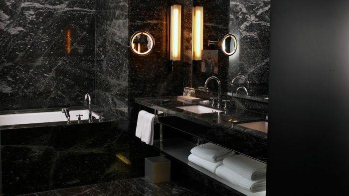 Schwarze Farbe elegantes Design für moderne und traditionelle - farbe fürs badezimmer