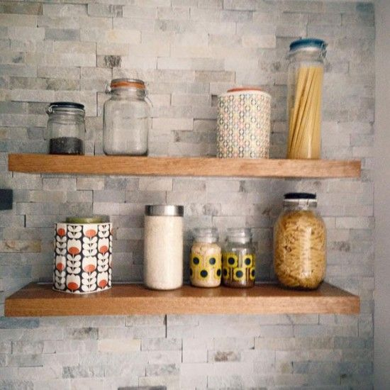 White Kitchen Feature Wall ice white split face mosaic tiles - large | customer project