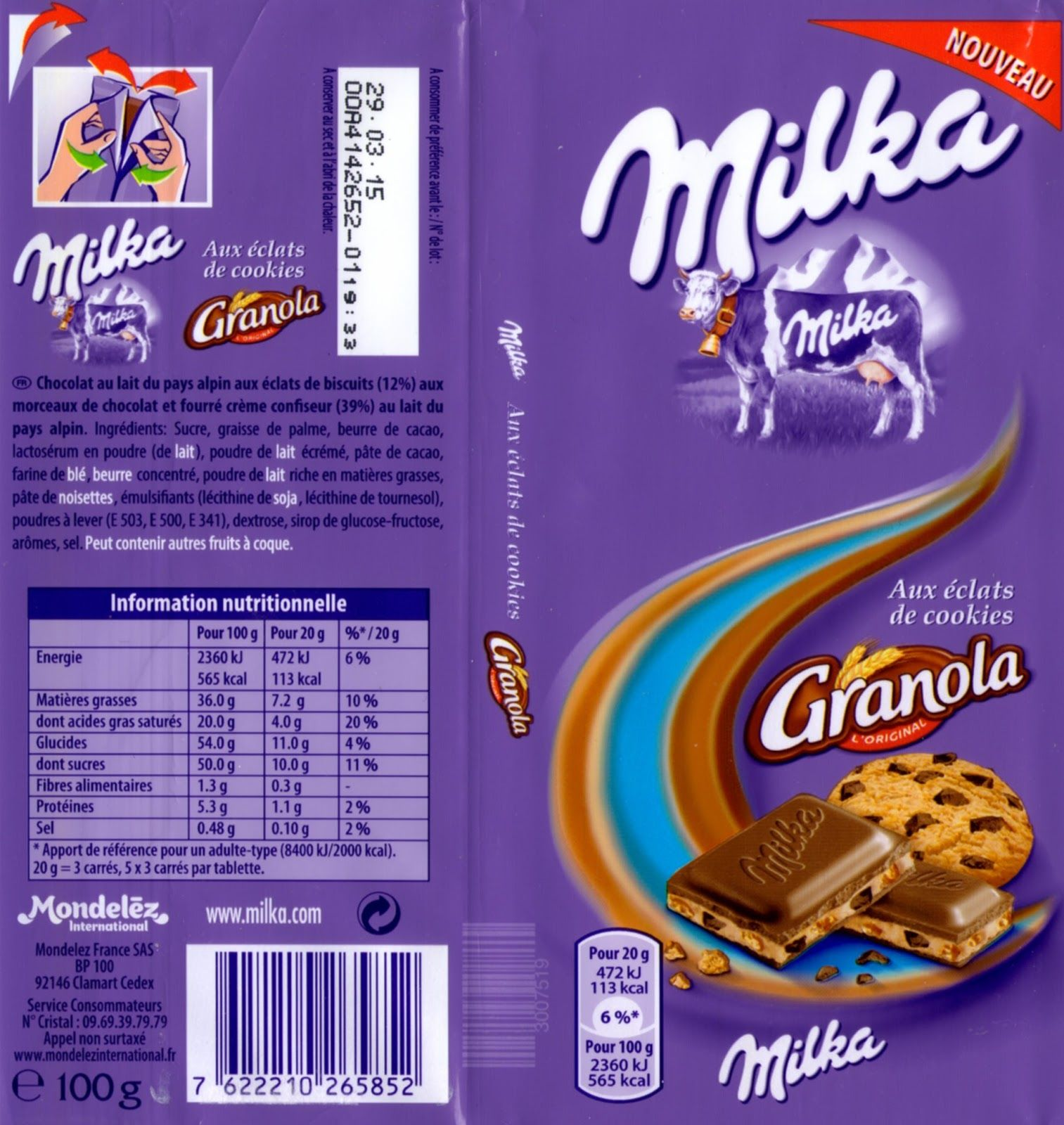 Lays chips french cheese 185g quotes - Tablette De Chocolat Lait Gourmand Milka Granola