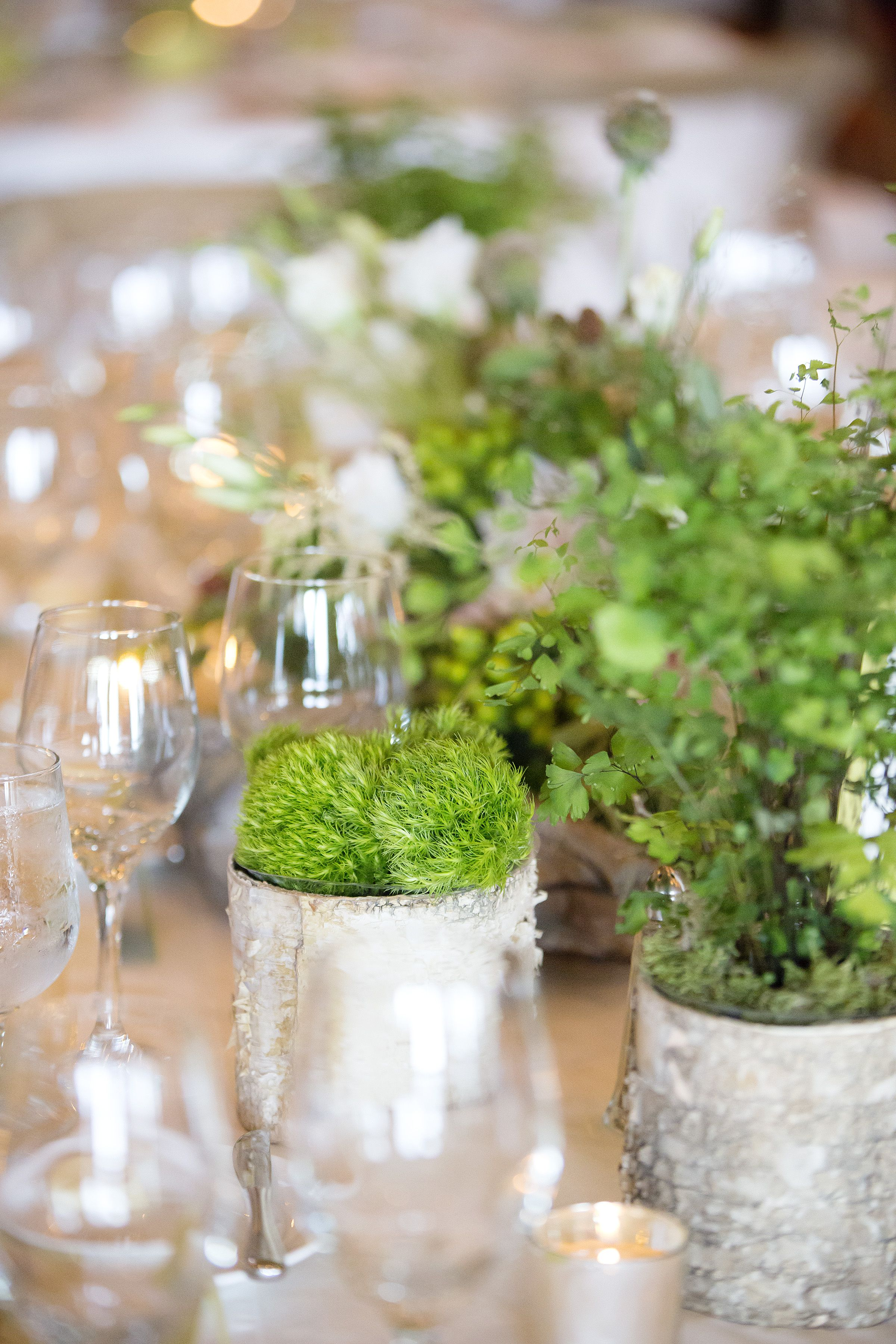 Floral décor - natural elements  Melina Wallisch Photography Featured on Style Me Pretty  http://www.stylemepretty.com/2015/02/04/stylish-lake-tahoe-summer-wedding/