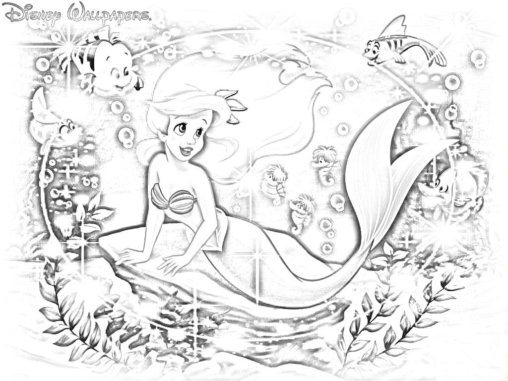 Disney princess coloring book for adults - Ariel Coloring Page Free Coloring Pages For Kidsfree Coloring Princess Gamesdisney