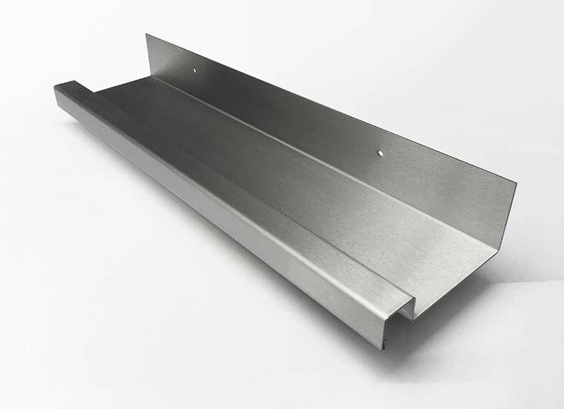 Edelstahl Küchenregal ~ Regenrinne für glasvordachsystem aus edelstahl ideen aus metall