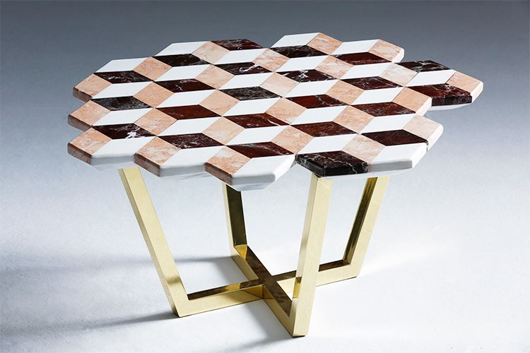 Diplopia Colored Coffee Table   Property Furniture