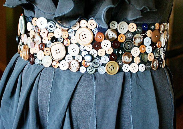 diy button belt so cute