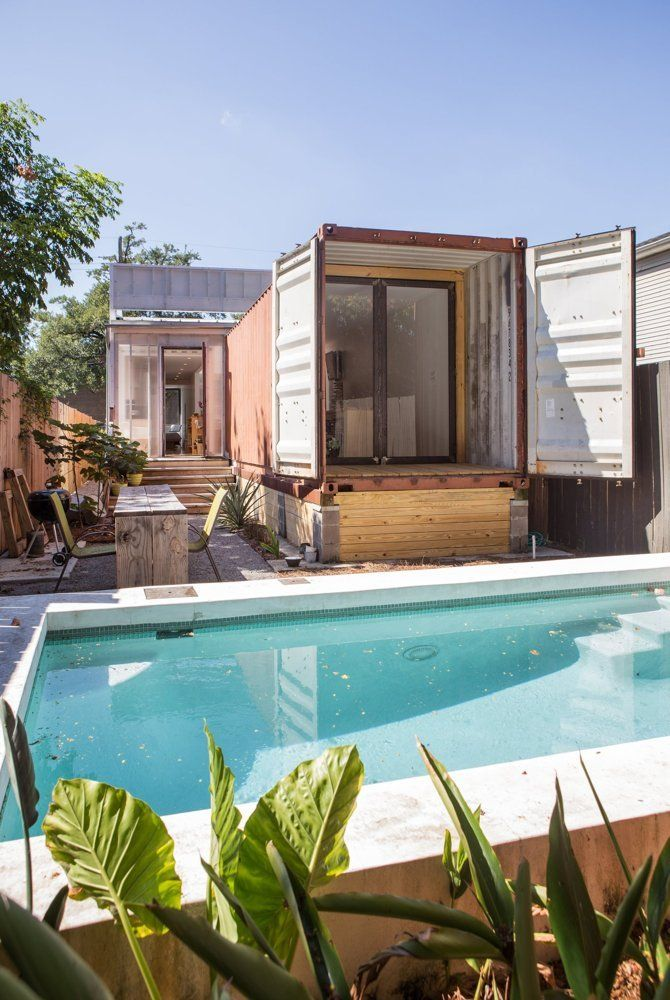 Tour A Cool Shipping Container Home In New Orleans Outdoor Spaces