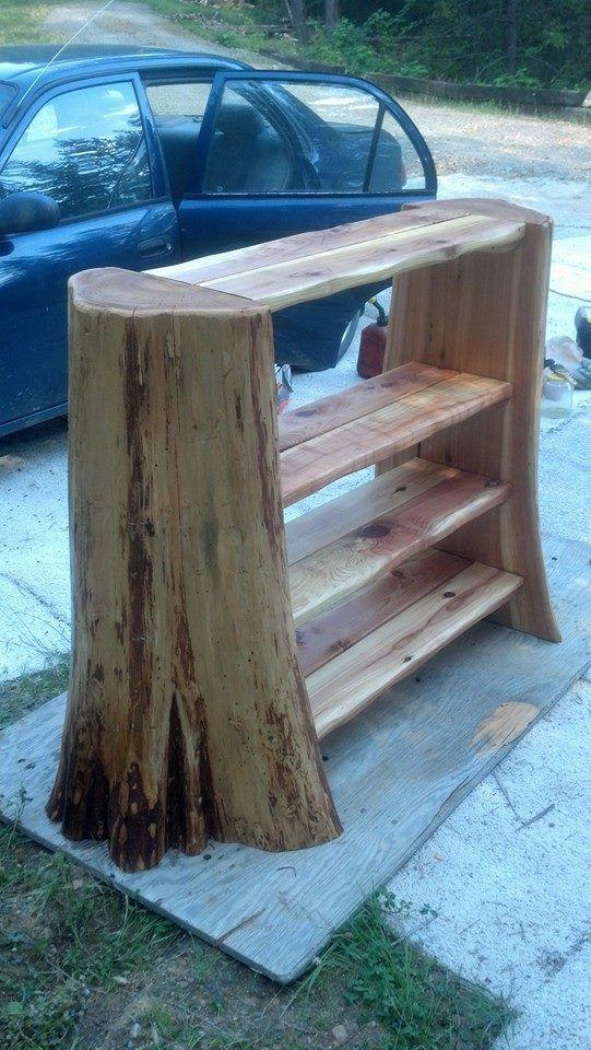 What To Do With That Cedar Tree Stump Hmmm Woodworking Projects Wood Projects Woodworking Projects Diy