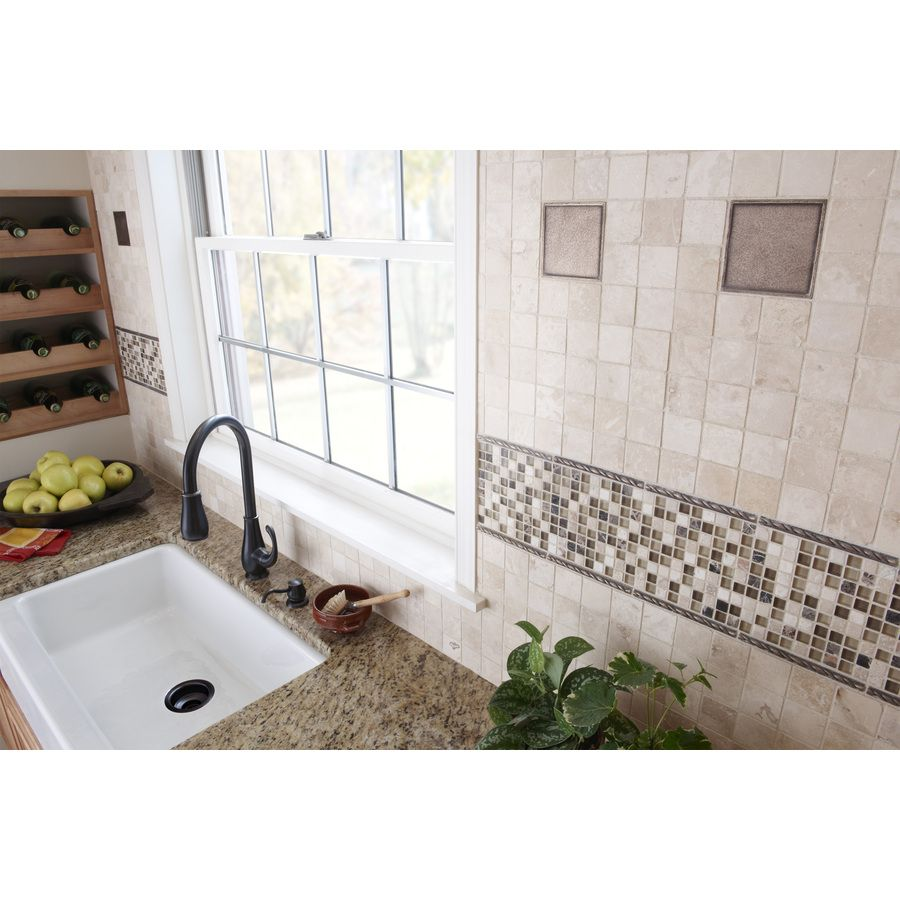 Shop Anatolia Tile Filled And Honed Travertine Natural