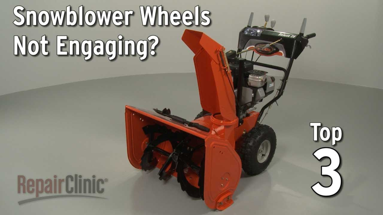 Snowblower Wheels Not Engaging Snowblower Troubleshooting Youtube Snow Blower Ariens Snowblower Repair