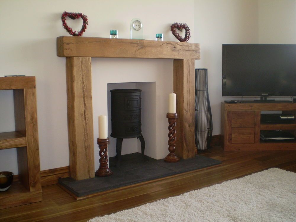 OAK BEAM/FIRE PLACE/RECLAIMED/MANTLE in Home, Furniture & DIY ...