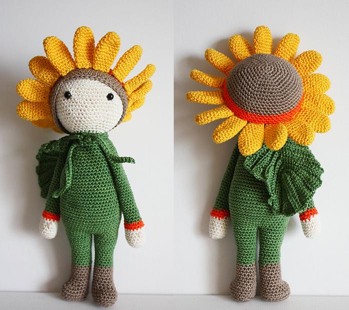 Sunflower Sam made by Fränzi / crochet pattern by Zabbez ♡