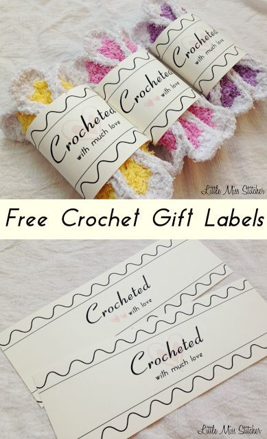 Free Crochet Gift Label Great Little Idea For Your Handmade Items By Miss Stitcher You Can Download These Labels Here And Share
