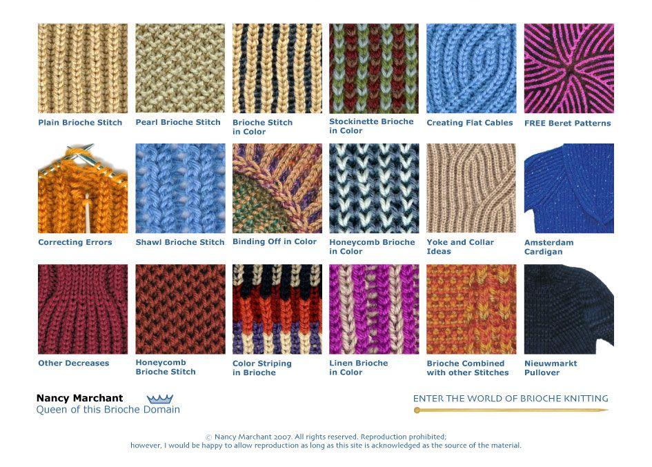 The Brioche Stitch | brioche knitting | Pinterest