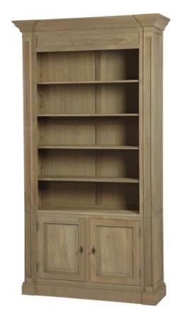Meuble biblioth que 2 portes ch ne mobilier Signature meubles