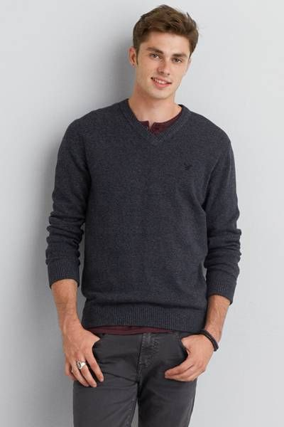 AEO V-Neck Mountain Pass Sweater | Aeo, American eagle outfitters ...