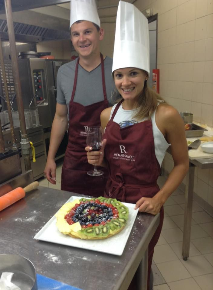 Joseph & Brianna a #fantastic #culinaryexperience having #fun with our #Chef Stefano #renhotels #rdiscovery !