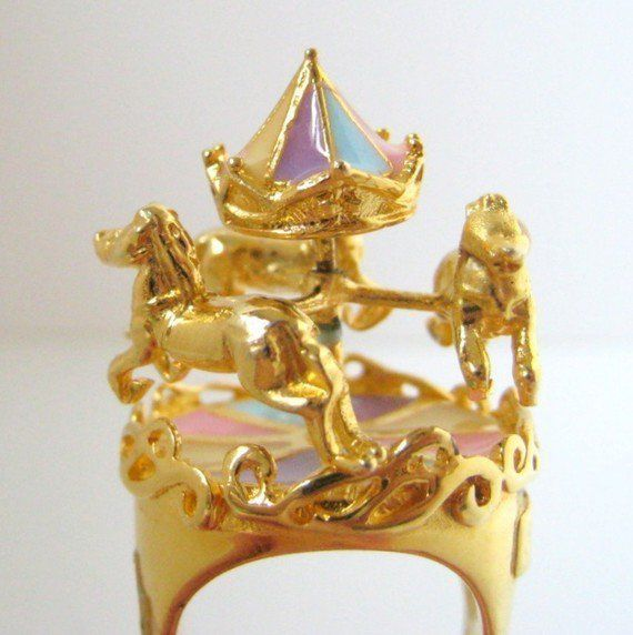 Fancy Carousel Ring 24K GoldPlated by wewear on Etsy from wewear on
