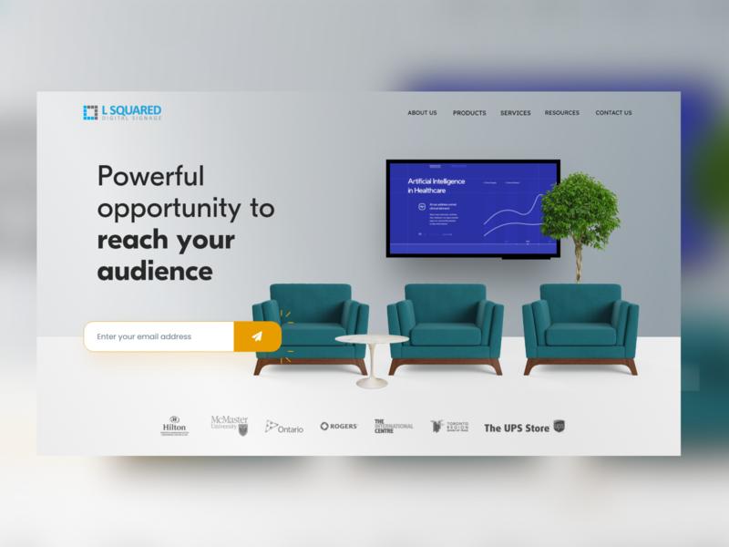 Digital Signage Landing Page