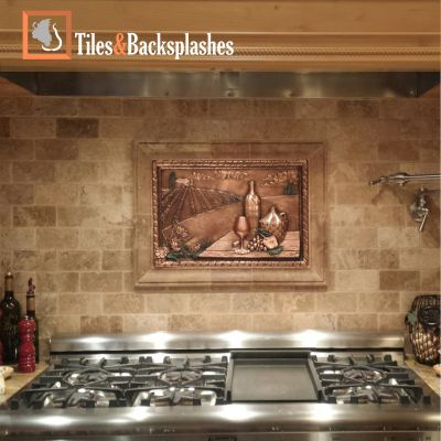 Delicieux Our Collection Of Tridimensional Metal Backsplashes Murals Has Been  Inspired By The Tuscan Countryside Scenery. Made From Original, Hand Carved  Designs And ...