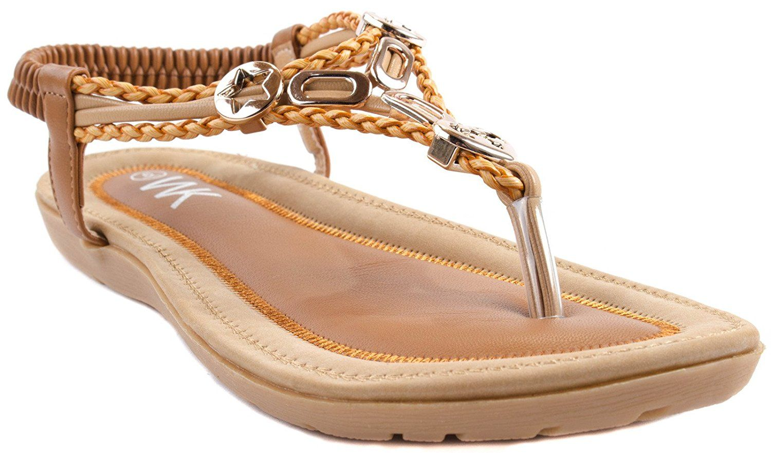 159e37e79 WK Shoes Women's DB-88 Crp Leather Sandals with Decorative Studs of  Different Shapes * Click image for more details. #womenshoe