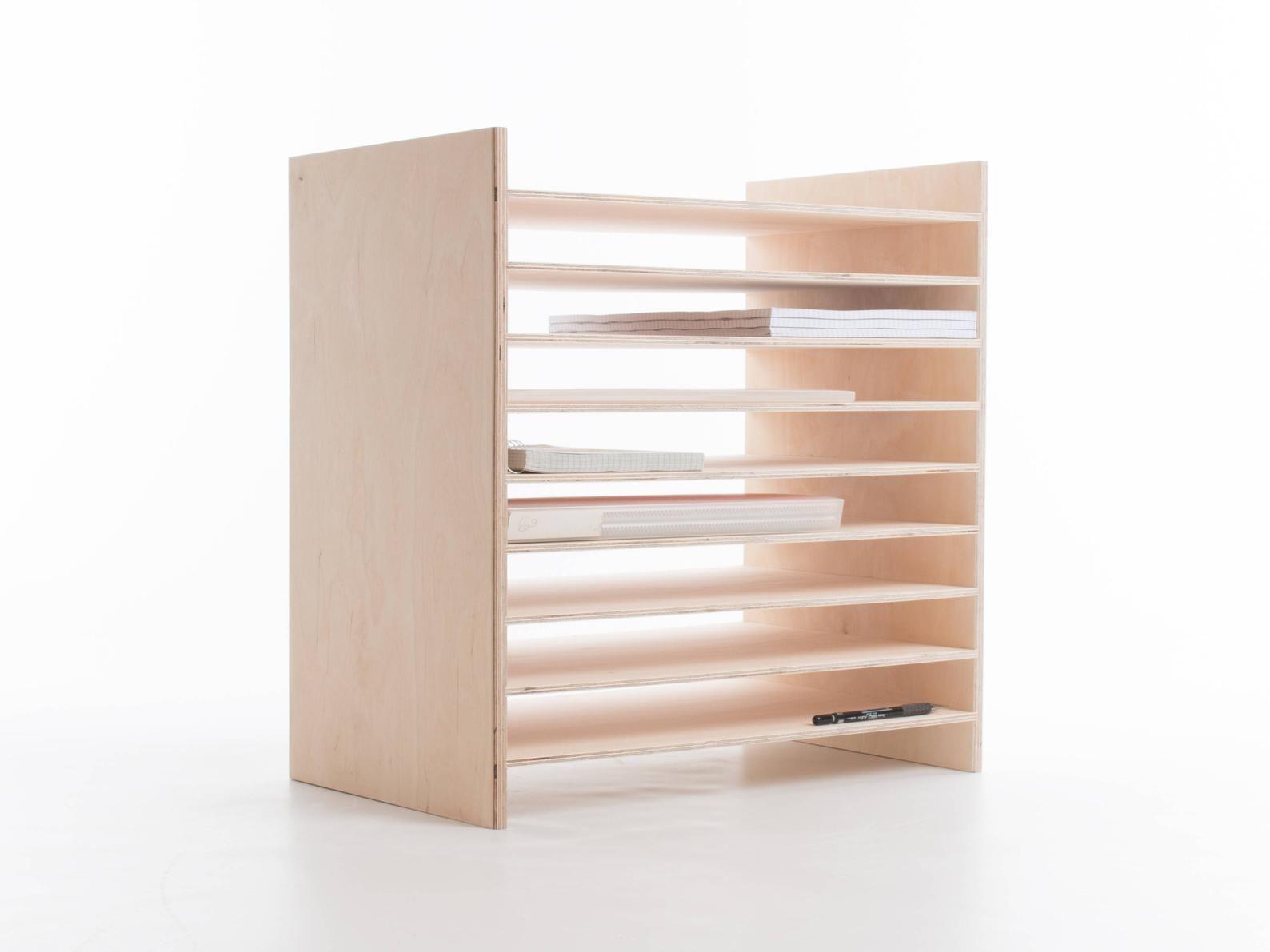 Stack A3 Paper Rack Shelves Desktop Organizer Baltic Birch Etsy Desktop Organization Rack Shelf Shelves