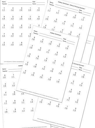 Addition Worksheet Generators In 2021 Worksheet Generator Addition Worksheets Worksheets