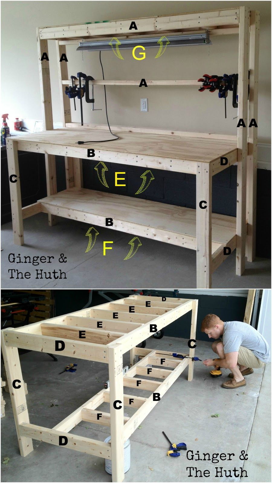 Plan De Travail Diy ginger & the huth: diy work bench | construction meuble