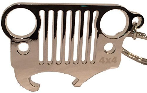 Jeep Grill Keychain And Integrated Bottle Opener With Limited