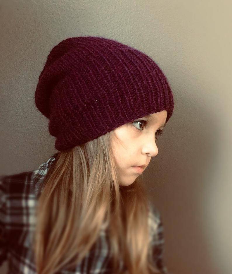 Perfect Slouch Hat Knitting Pattern Baby Toddler Child ...