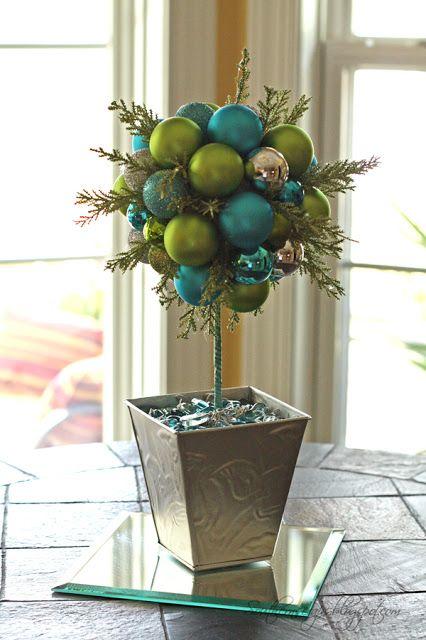 SouthernScraps Happenings DIY ornament topiary decoracion - decoracion navidea para exteriores de casas