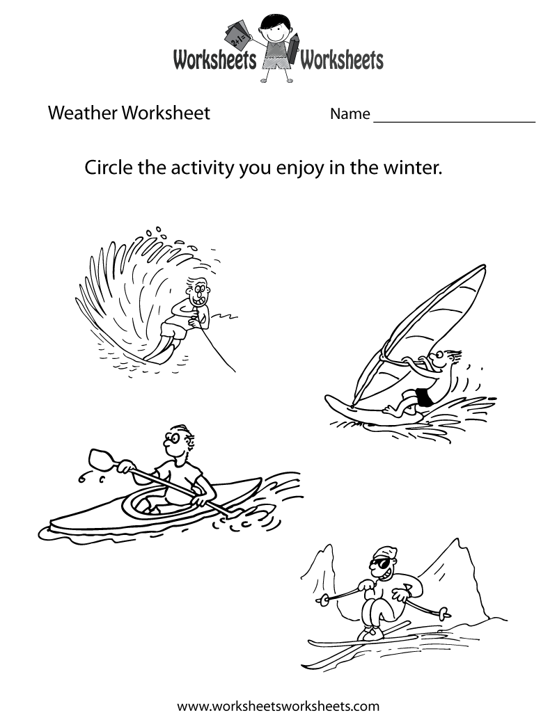 Weather Worksheet for Kids Printable Fun Worksheets – Weather Worksheets for First Grade