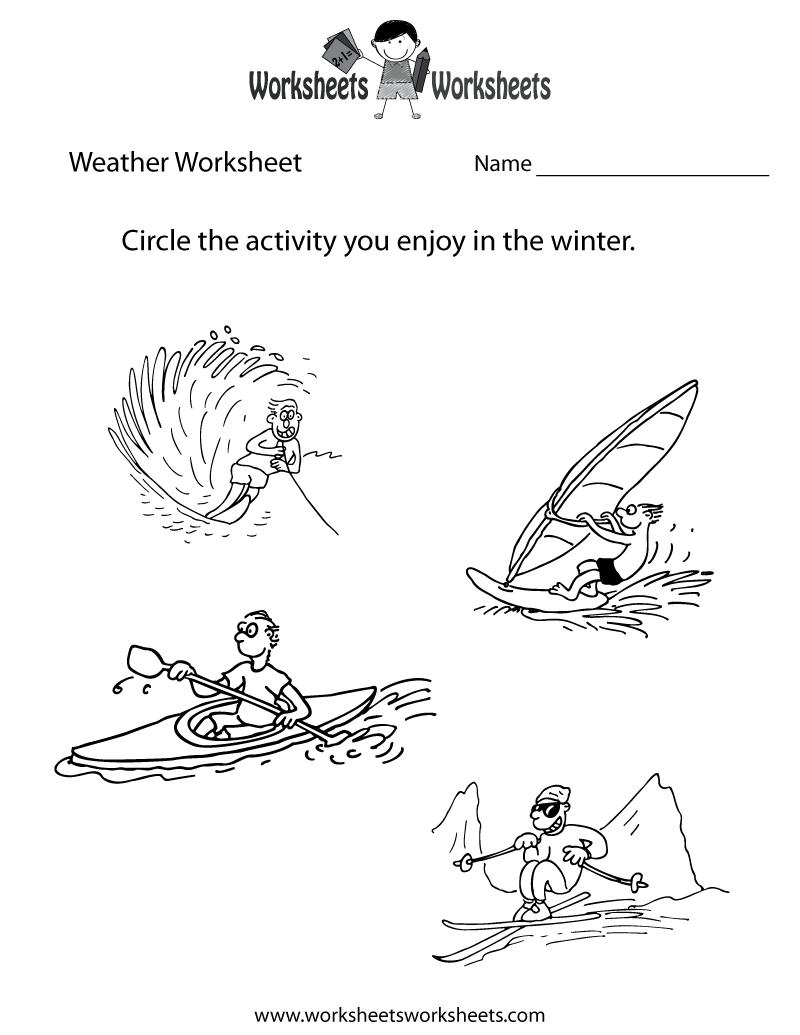 worksheet Weather Worksheets For Kids weather worksheet for kids printable fun worksheets pinterest printable