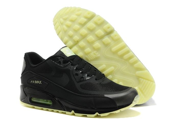 Nike Air Max 90 Black Black Prem Tape Glow in the Dark