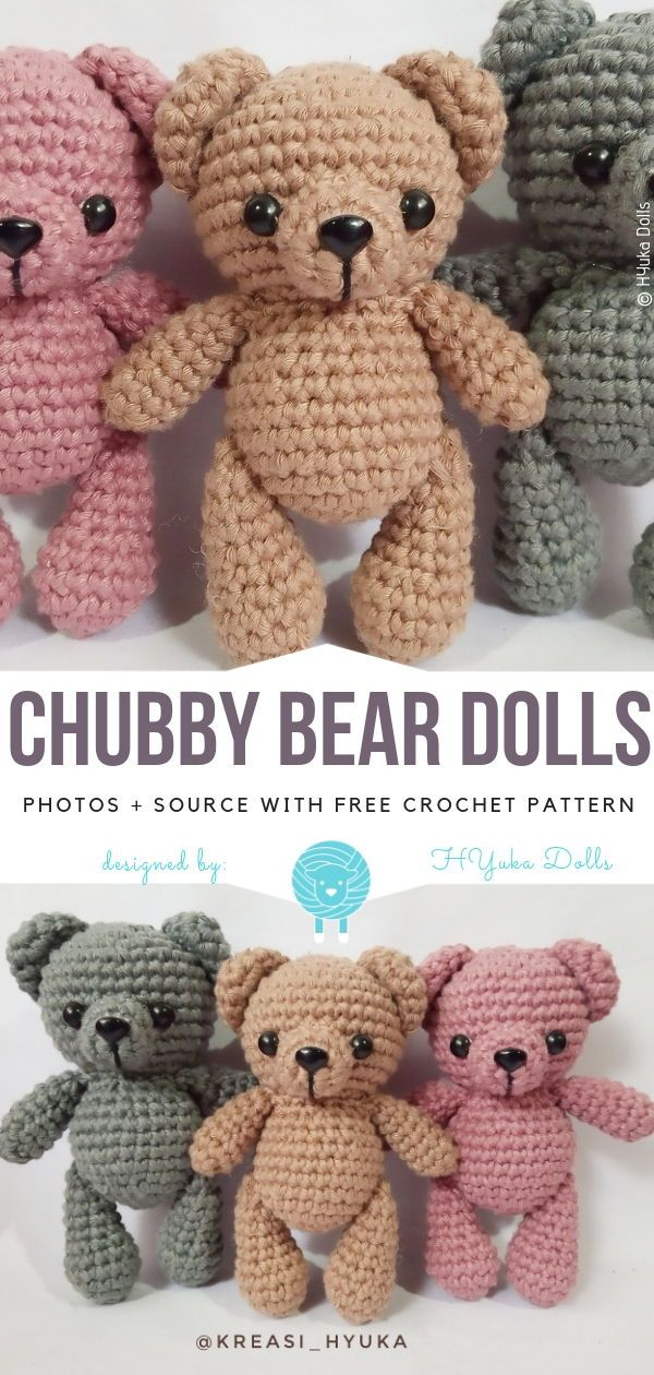 Cute Amigurumi Bears Free Crochet Patterns - Free Crochet Patterns #crochetamigurumifreepatterns