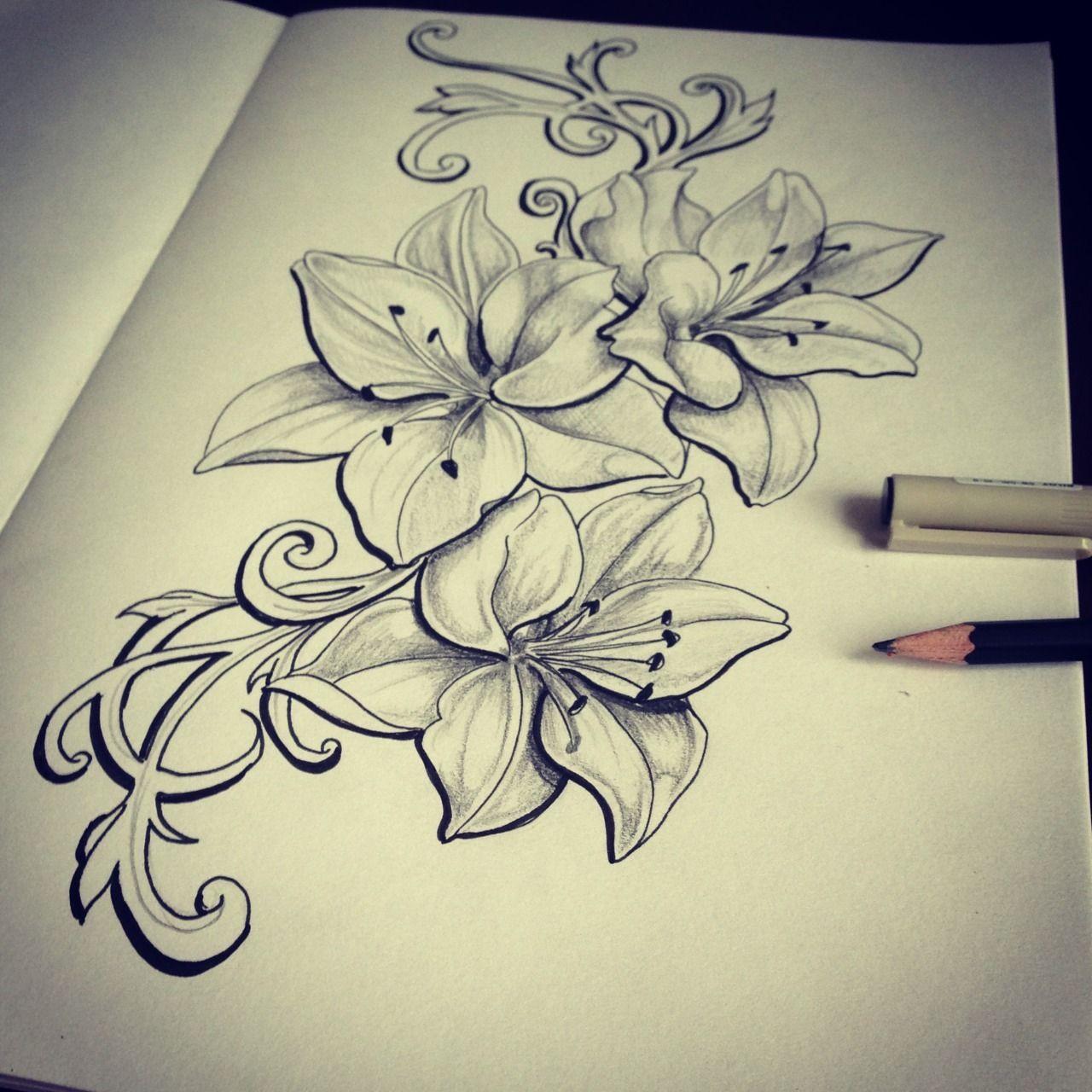 Scarlett tattoo photo tattoos pinterest tattoo tattoo scarlett tattoo lilies for natasha izmirmasajfo