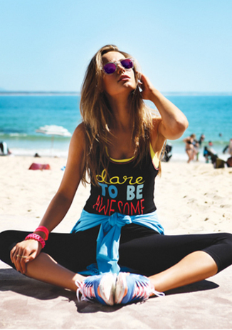 dare to be awesome tank from universal trendz  womens