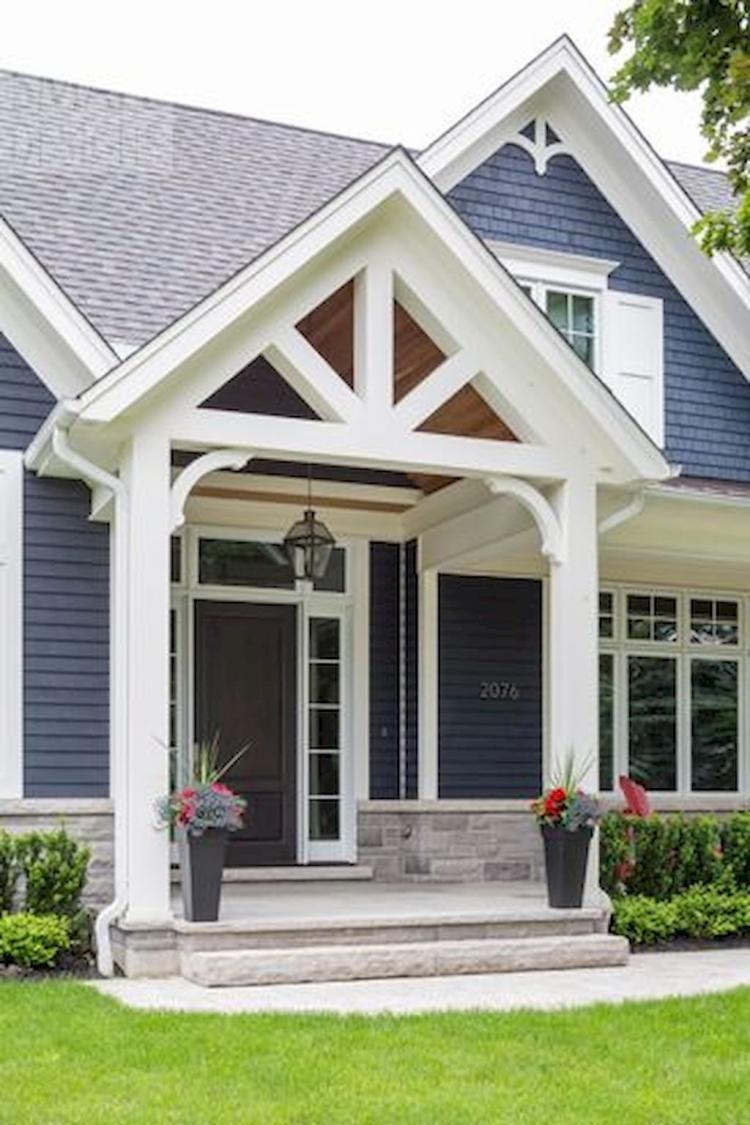 50 Adorable Exterior House Porch Ideas Using Stone Columns House With Porch Front Porch Design House Exterior