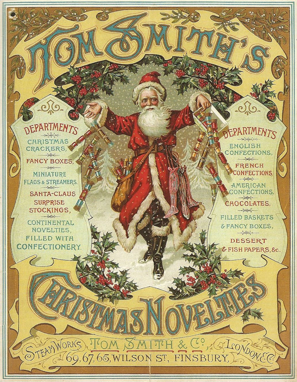 The Company S Founder Tom Smith Is Credited With The Invention Of The Christmas Cracker In The Early 1 Christmas Crackers Christmas Ephemera Christmas Postcard